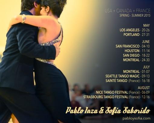 Pablo Inza & Sofia Saborido - Schedule spring-summer 2015